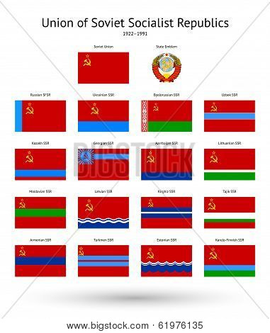 Soviet Union (USSR) Flags Collection.