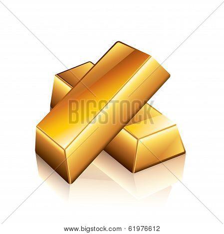 Gold Bars Vector Illustration