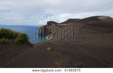 Area around of Capelinhos lighthouse in Azores island