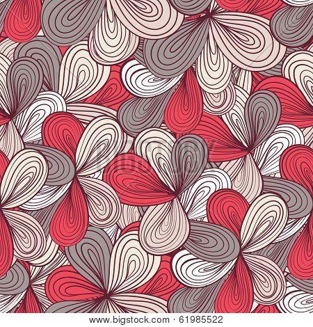 Seamless Wave Hand-drawn Pattern, Waves Background