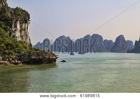 Rocky outcrop, Halong Bay, Vietanm