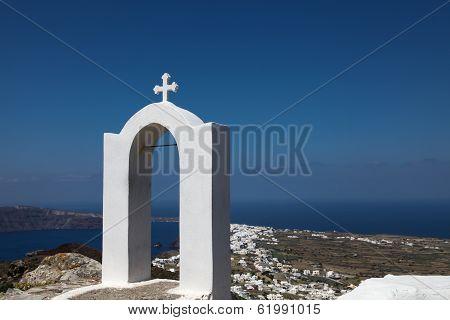 Campanile On Santorini Island