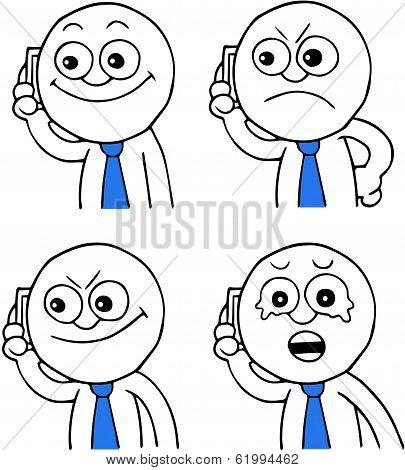 Businessman On Phone Set