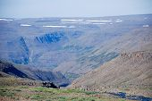 foto of taimyr  - Rocky landscape on the Putorana plateau - JPG