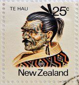 NEW ZEALAND - CIRCA 1980: A stamp printed in New Zealand shows Maori Leader Te Hau-Takiri Wharepapa