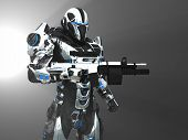 stock photo of soldiers  - 3d render of advanced super soldier character - JPG