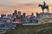 Kansas City Scout overlooking Kansas City, Missouri