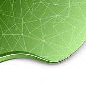 Molecular Chemistry Green Background Template