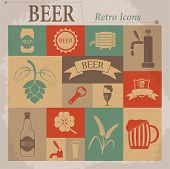 image of malt  - Beer Vector Flat Retro Icons - JPG