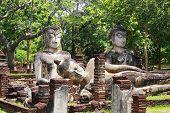 foto of pee  - Phra Sam Pee Nong Phra Kaeo temple Kamphaengphet Historical Park Kamphaengphet - JPG
