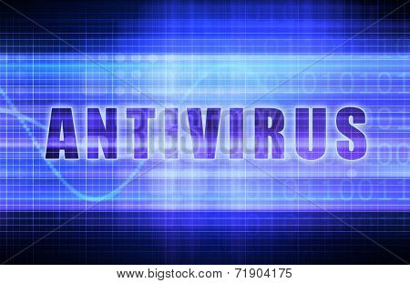 Antivirus on a Tech Business Chart Art