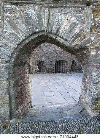 Cobbled Castle Entrance