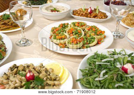 Various Lebanese Plates