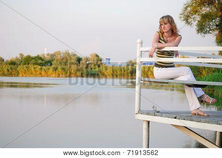 The Teen On A Pier