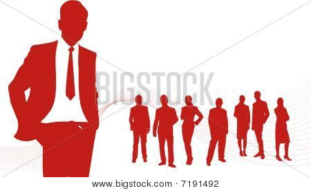Business People Red