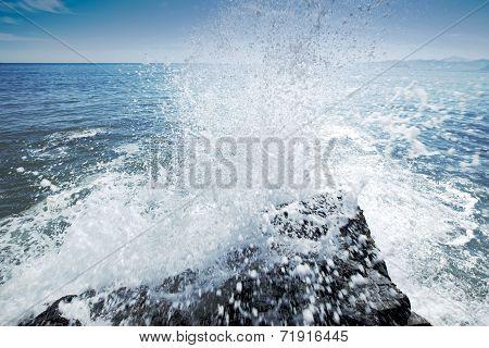 Splashes Of Ocean Waves