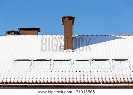 Rooftop Under Snow