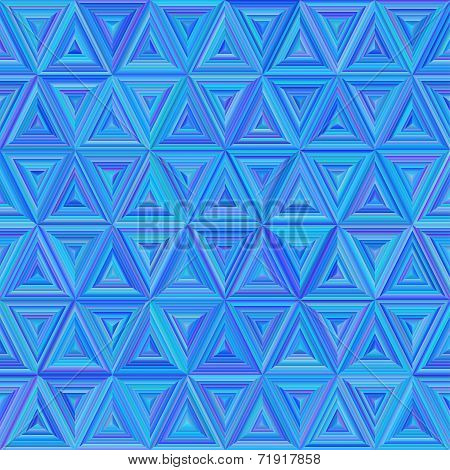 Seamless Blue Colorful Triangulate Pattern