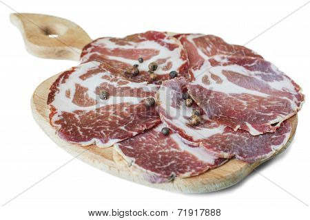 Bacon Slices On A Board