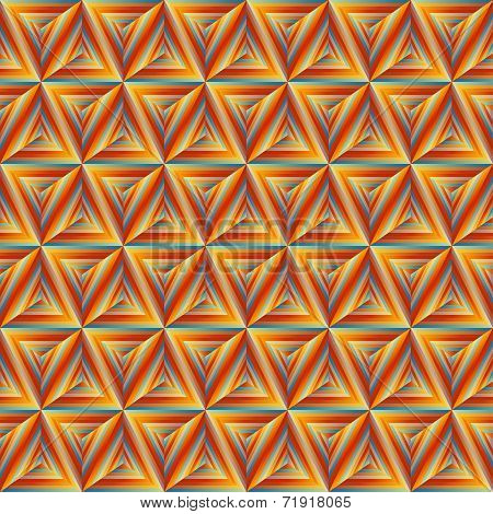 Seamless Orange Triangulate Pattern