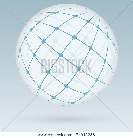 Global Network Connections, Vector Illustration