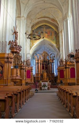 Interior Of The Church Of Bernardines' In Vilnius