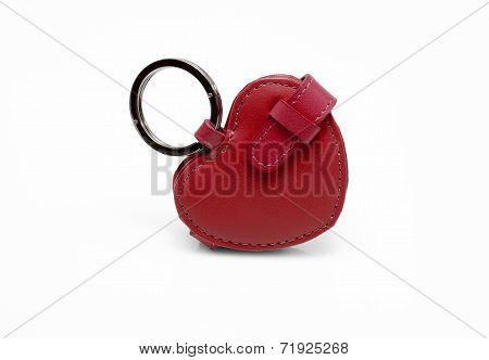 Red leather trinket