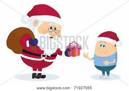 Santa Claus and boy