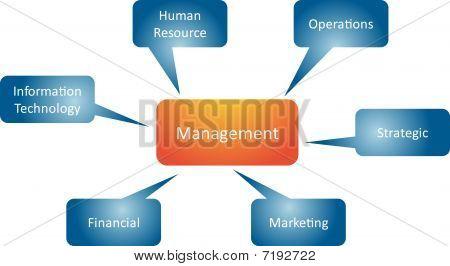 Management Branches Business Diagram