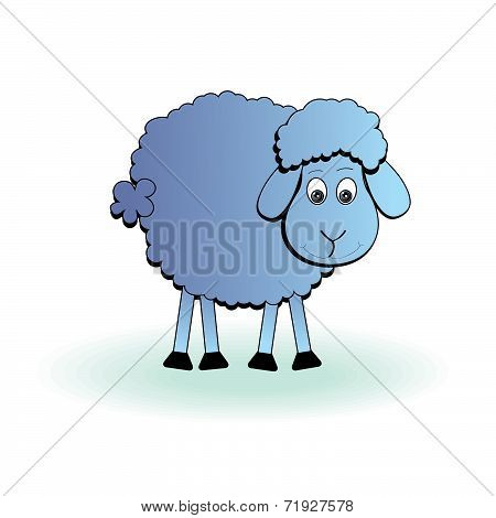 Cartoon Sheep, Vector Lamb