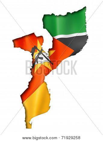 Mozambique Flag Map
