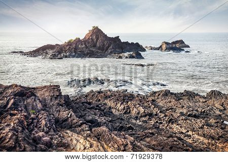 Rocks Near Om Beach In India
