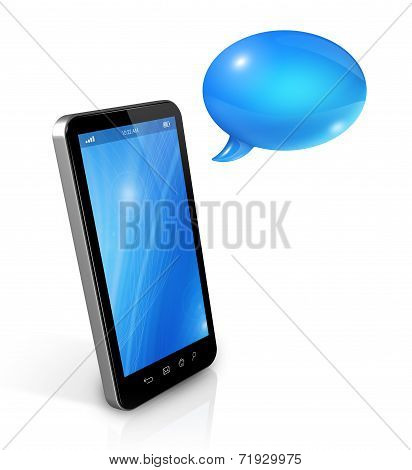 Speech Bubbles And Mobile Phone