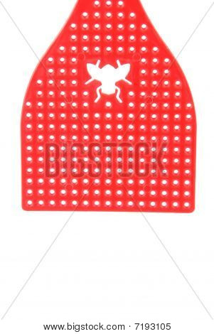 Flies Swatter Household Object On White