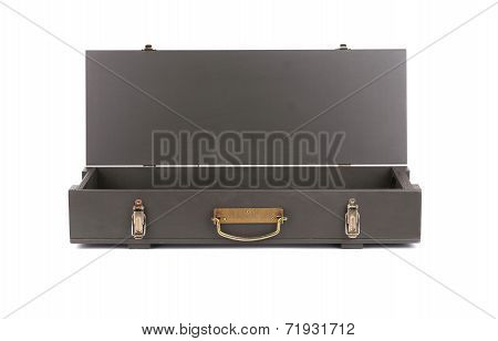 Opened case for AK Kalashnikov rifle.