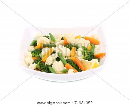Broccoli and cauliflower salad.