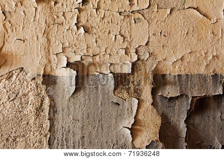 Old Cracked And Dilapidated Wall Of Building