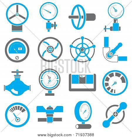 valve and gauge icons