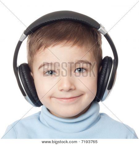 Smiling Boy In Headphones