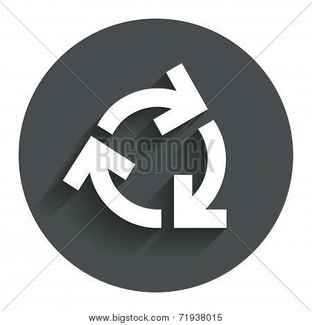 Recycling sign icon. Reuse or reduce symbol.