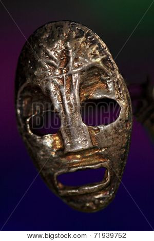 Silver scary mask