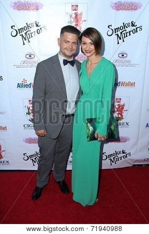 LOS ANGELES - SEP 13:  Jack Osbourne, Lisa Osbourne at the 2014 Brent Shapiro Foundation Summer Spectacular at Private Residence on September 13, 2014 in Beverly Hills, CA