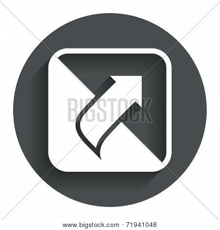 Turn page sign icon. Peel back sheet corner.