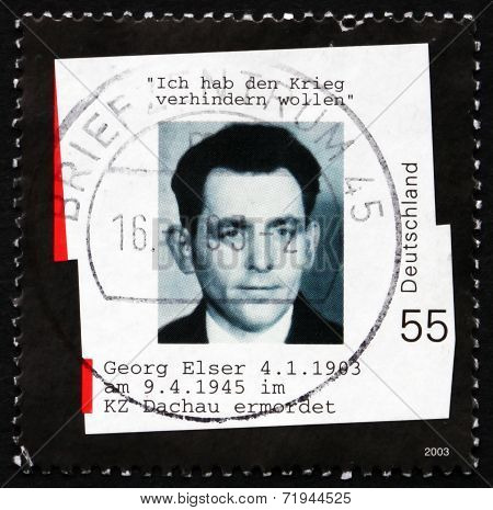 Postage Stamp Germany 2003 Georg Elser