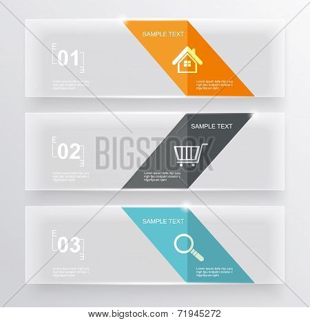 Set Of Glass Banners.can Use To Display Information