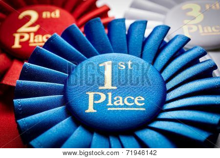 1St Place Winners Rosette Or Badge