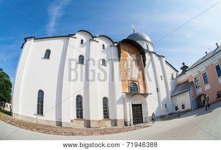 Novgorod, Russia - July 23, 2014: Saint Sophia Cathedral At Novgorod Kremlin. Cathedral Was Built Be