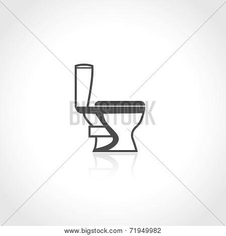 Plumbing icon toilet bowl
