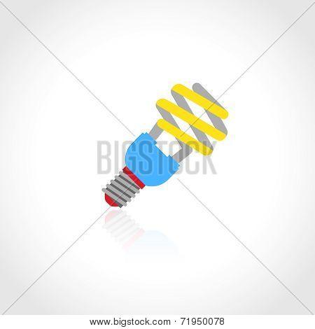 Energy saving lightbulb icon