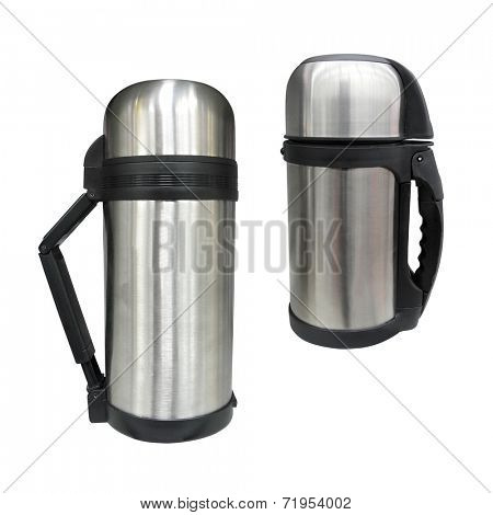 The image of thermos under the white background